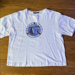 brandy melville white graphic shirt